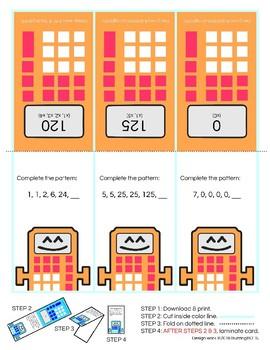 4th Grade Math Cards Starter Pack