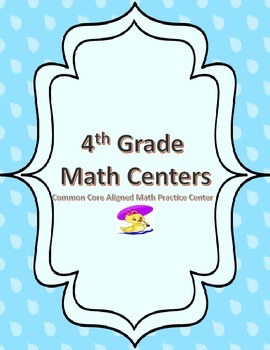4th Grade Math Centers