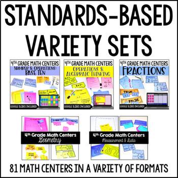 4th Grade Math Centers | 4th Grade Math Games Bundle