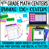 4th Grade Math Centers - with Digital Math Centers for Dis