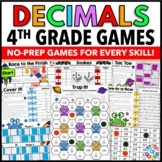 4th Grade Math Centers: 4th Grade Decimals Games {4.NF.5, 4.NF.6, 4.NF.7}