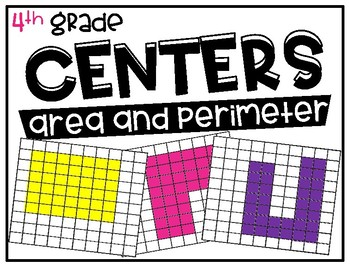 4th Grade Math Centers Area and Perimeter
