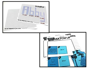 4th Grade Math Centers Area and Perimeter