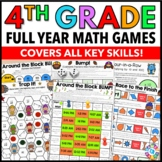 4th Grade Math Centers: 4th Grade Math Games No Prep Bundle