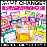 4th Grade Math Games Bundle