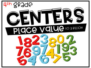 4th Grade Math Centers Bundle for the Year