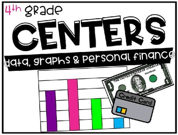 4th Grade Math Centers Data, Graphs, and Personal Finance