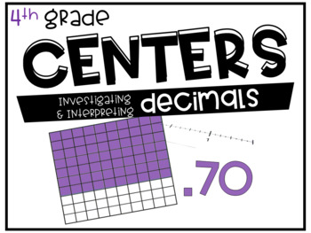 4th Grade Math Centers Decimals