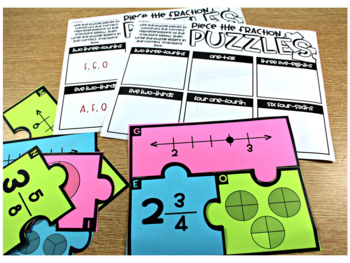 4th Grade Math Centers Fractions