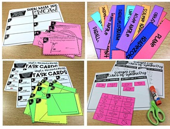 4th Grade Math Centers Geometry