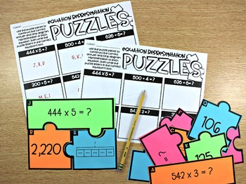 4th Grade Math Centers Multiplication and Division Problem Solving