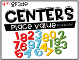 4th Grade Math Centers Place Value