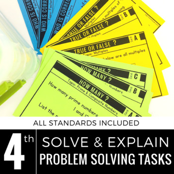 Problem solving with angles teaching resources teachers pay teachers 4th grade math centers problem solving solve and explain fandeluxe Gallery