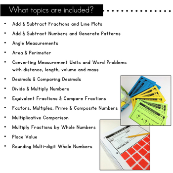 4th Grade Math Centers   Problem Solving Tasks