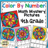 4th Grade Math Color By Number Designs: 4th Grade Math Mys