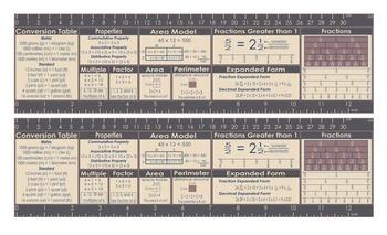 4th Grade Math Common Core Desktop Card