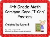"4th Grade Math Common Core ""I Can"" Poster"