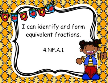 4th Grade Math Common Core I Can Statement Posters