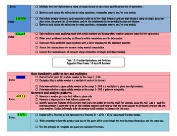 4th grade math common core pacing guide for pearson text tpt rh teacherspayteachers com Envision Math Workbook Grade 4 Pearson Envision Math 4th Grade