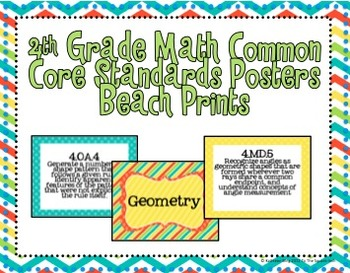 4th Grade Math Common Core Posters- Take Me To The Shore