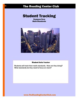 4th Grade Math Common Core Standards Student Tracking