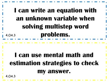 4th Grade Math Common Core Standards in Kid Friendly Terms