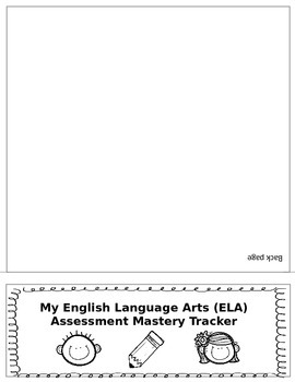 4th Grade ELA Common Core Student Mastery Tracking Flip Book