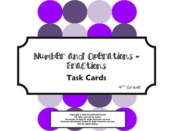 4th Grade Math Common Core Task Cards (4.NF)