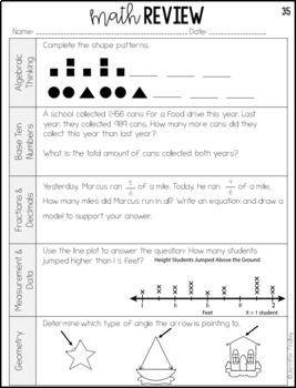 4th Grade Math Test Prep Review by Jennifer Findley | TpT
