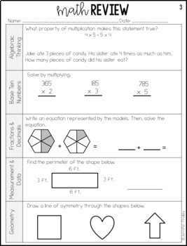 4th Grade Math Test Prep Review