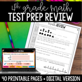 4th Grade Math Test Prep Review Google Classroom Distance Learning