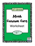 4th Grade Math Common Core Worksheet (4.NBT.1)