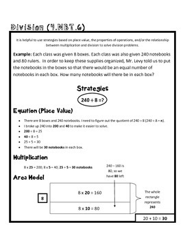 4th grade math common core worksheet 4 nbt 6 by teachlivedream. Black Bedroom Furniture Sets. Home Design Ideas