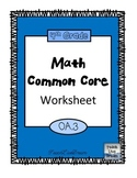 4th Grade Math Common Core Worksheet (4.OA.3)