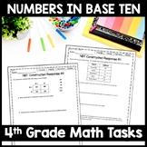 4th Grade Math Constructed Response: 10 NBT Multi-Part Performance Tasks