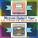 4th Grade Math Curriculum Bundle ⭐ Digital and Paper Bundle ⭐ Google and PDF