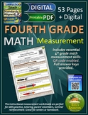 4th Grade Math Customary and Metric Measurement Worksheets