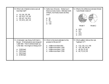 4th Grade Math Daily Review #10