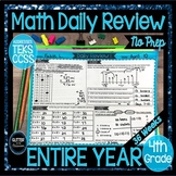 4th Grade Daily Math Warm Up-ENTIRE YEAR-Daily Review-Math Spiral Review
