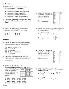 4th Grade Math Daily Review Week 19