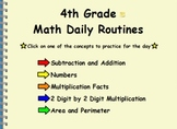 4th Grade Math Daily Routines