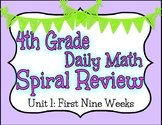 4th Grade Math Daily Spiral Review
