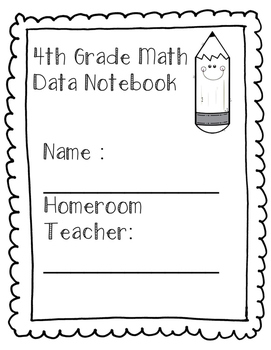 4th Grade  Math Data Folders