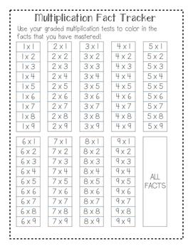 4th Grade  Math Data Folders