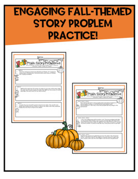 Fall Math Story Problems | 4th Grade
