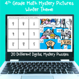4th Grade Math Digital Mystery Pictures-Winter