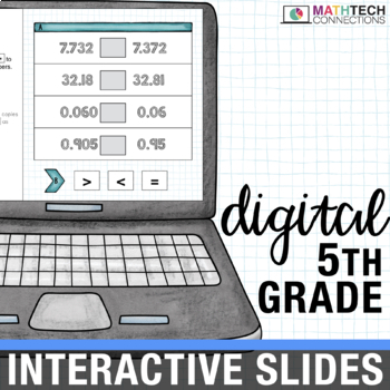 5th Grade Math Centers Digital Slides for use with Google Drive™ or Classroom