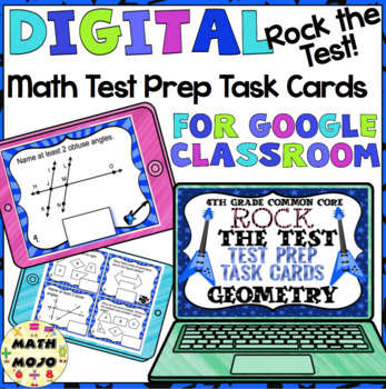 4th Grade Math Digital Task Cards: 4th Grade Rock the Test Prep (G Standards)