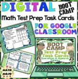 4th Grade Math Digital Task Cards: 4th Grade Test Prep Boot Camp (OA Standards)