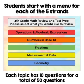 4th Grade Math Digital Task Cards for Test Prep and Review - BOOM Cards